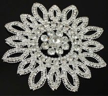 Big Flower Decorative Crystal Rhinestone Appliques RA14