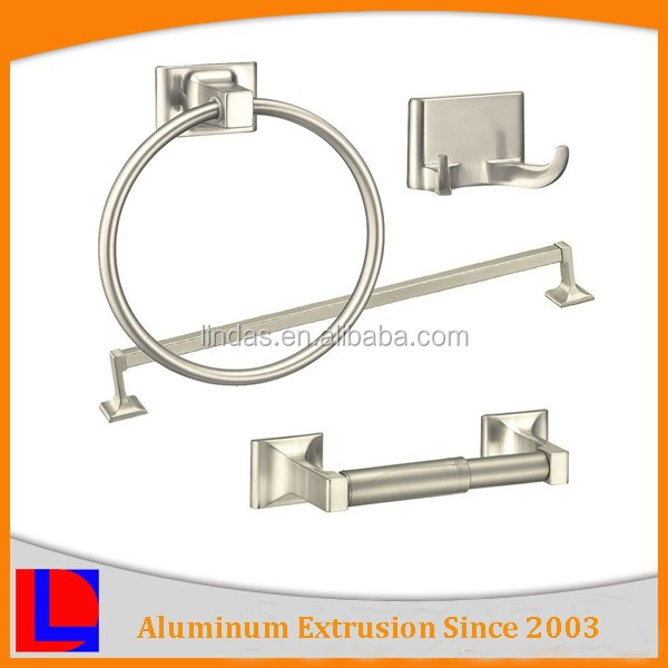 China famous anodized aluminum brand name bath accessories for home and hotel