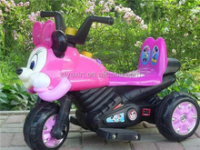 unique design 2016 hot sale micky mouse plastic head electric motorcycle bike children ride toy