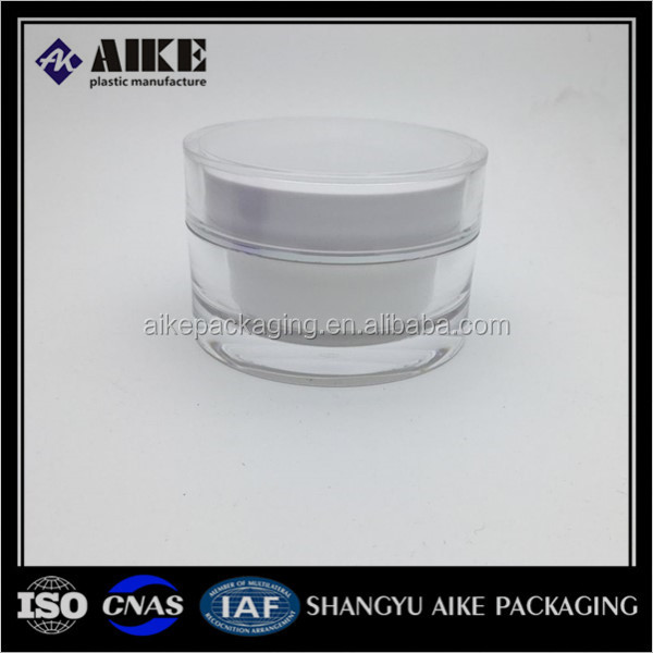 Plastic factory cosmetic jars transparent acrylic jar 50 g round cosmetic 50 ml transparent plastic jar