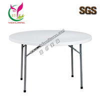 Outdoor foldable round cheap plastic table YC-T01S