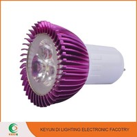 Super brightness 2700K-6500K Purple Color 3W long range spotlight