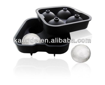 Superior Quality BPA Free Silicone Ice Rounds Maker 4x4.5cm