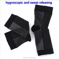 Waterproof anti-slip heated sport compression socks for basketball or football,adjustable ankle support