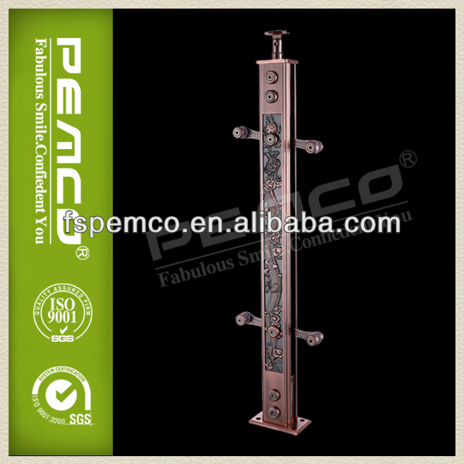 Cast exterior aluminum handrail for stairs