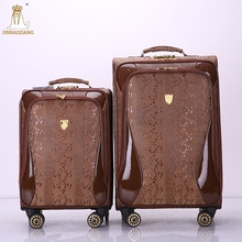 Hot selling eminent soft 20''24''28'' trolley amber luggage multiple colors