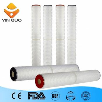 water filter cartridge outer casing pleated filter cartridge for pharmaceutical filter