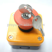 Key Switch Mushroom Emergency Stop Push Button Switch Box with Mechanical Key PY-B02