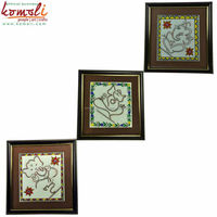 Ganesh Wire Art with Madhubani Painting - Indian Village Painting with natural colors