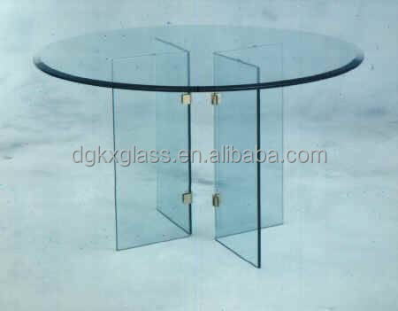 dongguan china manufacture furniture glass top round dining table