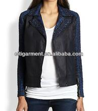 Malhia Kent Slim Illusion Moto Jacket for women