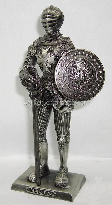 zinc alloy medieval knight