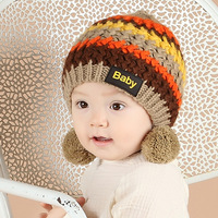 S32175W Wholesale korean carton style knitted hat fashion girls funny winter hat
