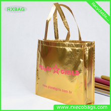 Chinese Factory Price High Quality Promotional new style metallic laminated non woven tote bag