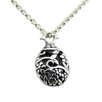 Wholesale Antique 925 Sterling Silver Long Necklace & Flower Garden Pendant for Women Girl
