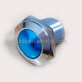 Three color metal push button illuminated push button switch