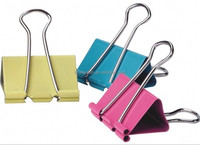 Colorful Metal Binder Clips 15mm Notes Letter Paper Clip