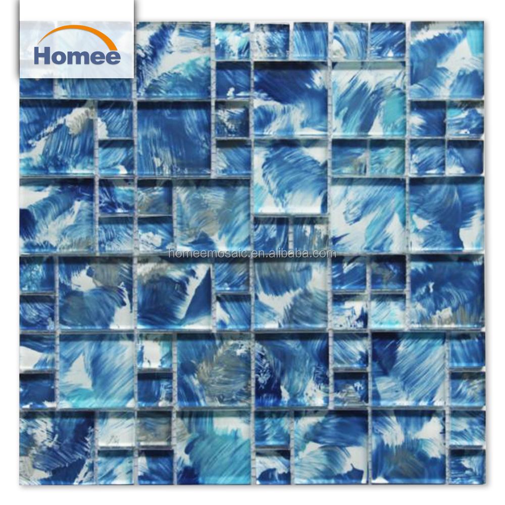 Wholesale blue glass backsplash tile - Online Buy Best blue glass ...