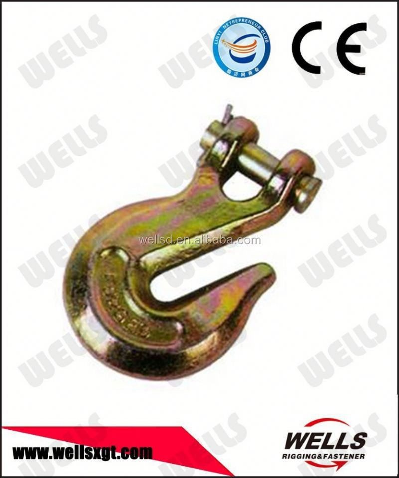 "Wells factory Rigging hardware 3/8"" Clevis Slip Hook w/ Safety Latch - Grade 70"