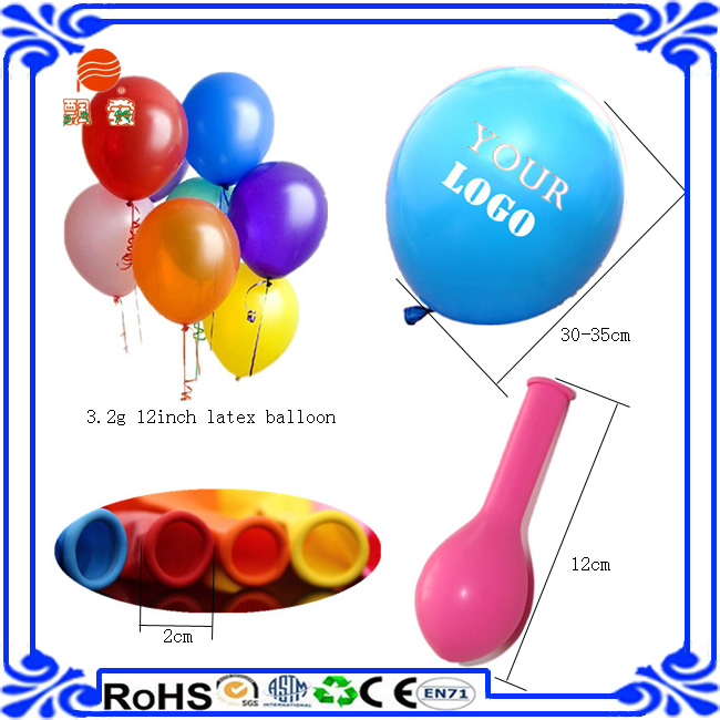 High quailty 12inch custom print inflated latex balloon