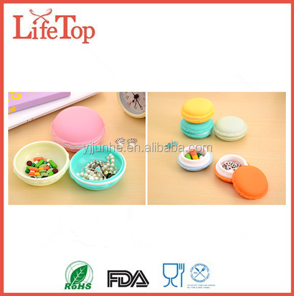 Cute Macaroon Earrings Ring Show Display Box Storage Gift Package Case