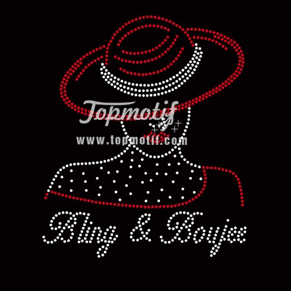 rhinestone hot fix sheets bling & boujee afro girl rhinestone transfer for t-shirt