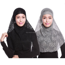 muslim lace two peices hijab islamic fashion hijab HS105