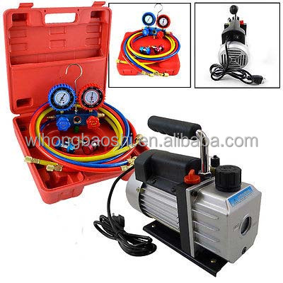 R134A Diagnostic Testing Charging Manifold with vacuum pump