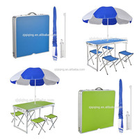 Portable MDF Aluminum Folding picnic Table and Chair for outdoor use HF-19-37