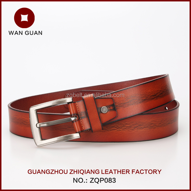 Mens leather belts man-made vegetable 2016 hot sale products ZQP083