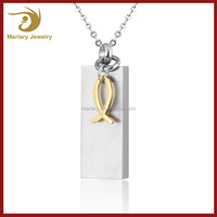Classic Square Design Stainless Steel Locket Ashes Cremation Pendant Jewelry