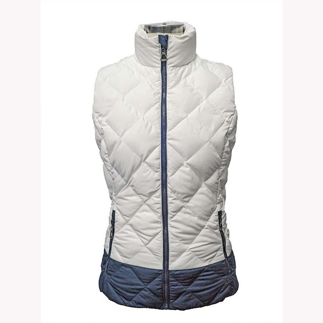 Woman winter popular feather waist coat sleeveless winter vest for sale