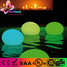 plastic housing waterproof outdoor decorative led lighting remote control led rechargeable bal