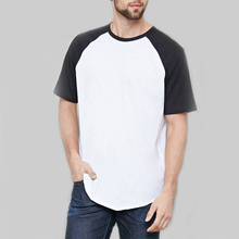 Cotton material t shirt raw-edged seams latest t shirt designs for men