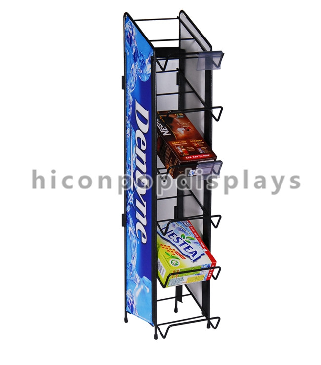 Creative Knock Down Unique Chocolate Display Stands, Retail Metal Cadbury Chocolate Display Stand
