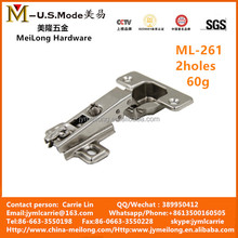 Cabinet hardware two way auto hinge concealed hinge