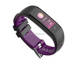 2018 new products put logo brand fitness tracker waterproof smart wrist band bp blood oxygen smart band