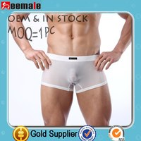 Moq=1 Seemale Underwear International Jock Transparent Wholesale Oem