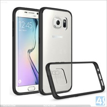 premium s7 edge case bumper soft tpu + clear Acrylic hard back phone case covers for samsung galaxy s7 edge