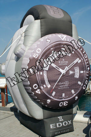 custom inflatable watch model/PVC advertising inflatables