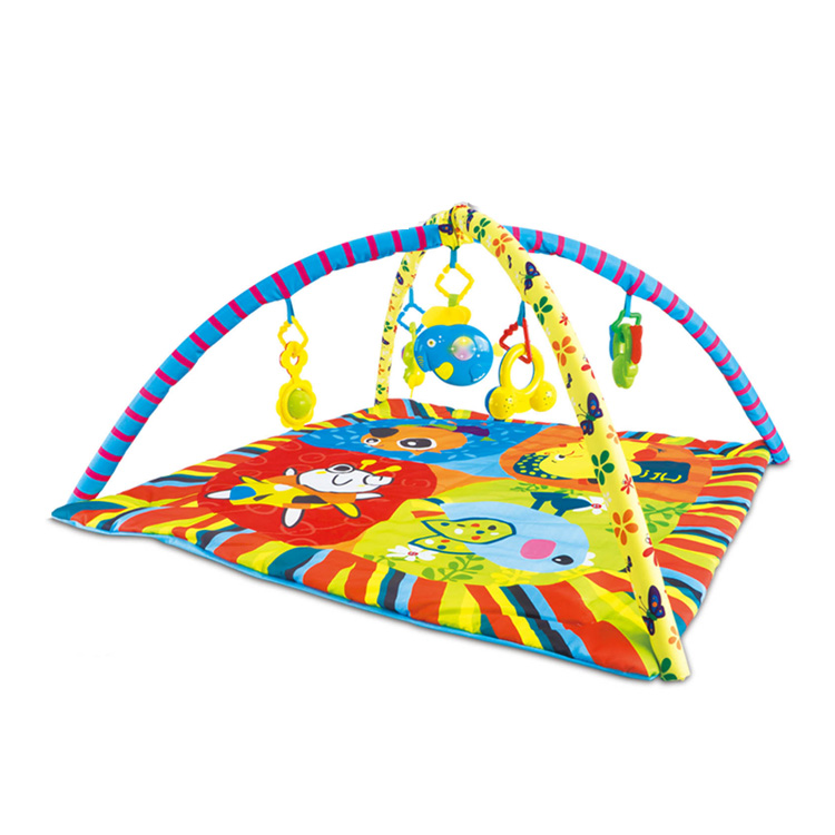 new arrival baby activity non-toxic soft gym play mat with hanging toys