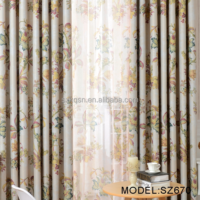 Popular new producing lace curtains in lahore pakistan blackout curtain