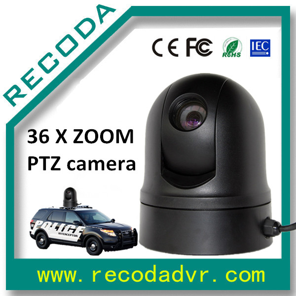 Intelligent Mini Vehicle PTZ Camera Sony 1010P Chip 36 Times Zoom 360 degree For Police Car