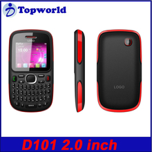 Qwerty Keyboard D101 2.0 inch Mobile Phone Analog TV GPRS/WAP 0.3MP Camera with blutooth FM radio MP3