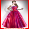 HQ0091 Charming Strapless Neckline Ball Gown Tulle Sleeveless Corset Back Ruched Waist Cheap Red Quinceanera Dresses
