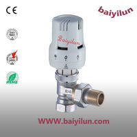 Hot sell and high quality CE Thermostatic Radiator valve ;angle valve with M type