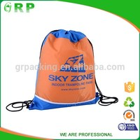 China munufacture polyester printed large drawstring bags