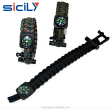 Emergency Paracord Bracelets | Set Of 2| The ULTIMATE Tactical Survival Gear| Flint Fire Starter, Whistle, Compass & Scrape
