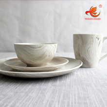 WKTDS01 wholesale Marble style ceramic porcelain dinnerware set dinnerware