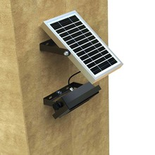 10W powered outdoor wall motion sensor lamp flood led solar security light